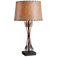 Kenroy Lighting Bound Arrow 1 Light Table Lamp in Antique Wash 32557ATW