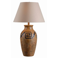 Kenroy Lighting Pueblo 1 Light Table Lamp in Bronzed Clay 32558MCLY