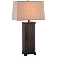 Kenroy Lighting 32559WDG Chuck 18 inch Wood Grain Table Lamp Portable Light