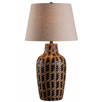 Kenroy Lighting Council 1 Light Table Lamp in Tan and Brown Weave 32560TBW