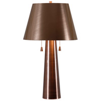 Biblio 27 inch 60 watt Antique Copper Table Lamp Portable Light