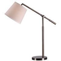 Kenroy Lighting Tilt 1 Light Desk Lamp in Dark Antique Brass 32572DAB