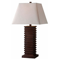 Sawmill 28 inch 150 watt Dark Walnut Table Lamp Portable Light