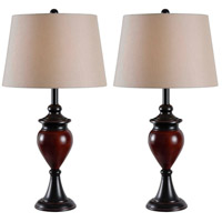 Elliot 19 inch 100 watt Oil Rubbed Bronze with Sienna Accents Table Lamp Portable Light