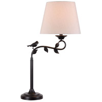 Birdsong 31 inch 150 watt Oil Rubbed Bronze/Gold Swing Arm Table Lamp Portable Light