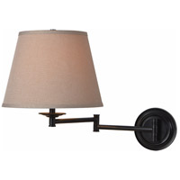 Architect 13 inch 150 watt Oil Rubbed Bronze Wall Swing Arm Lamp Wall Light in Tan