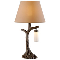Kenroy Lighting Banyan LED Outdoor Table Lamp in Driftwood 32625DW