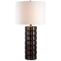 Sector 30 inch 150 watt Dark Maple Table Lamp Portable Light