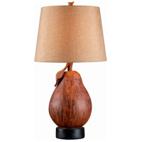 Le Poire 28 inch 150 watt Wood Grain Table Lamp Portable Light