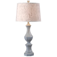 Gianni 32 inch 150 watt Distressed Gray Table Lamp Portable Light in French Print