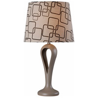 Parfume 28 inch 150 watt Gray Table Lamp Portable Light in Grey, Patterned