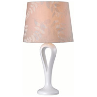 Parfume 28 inch 150 watt White Table Lamp Portable Light in Leaf Patterned