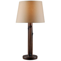 Kenroy Lighting 32689BAM Panda 31 inch 100 watt Bamboo Outdoor Table Lamp