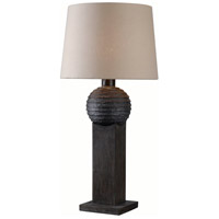 Garden 32 inch 100 watt Wood Grain Outdoor Table Lamp