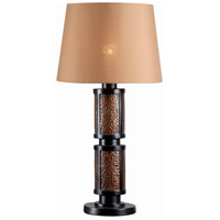 Hamden 29 inch 100 watt Oil Rubbed Bronze/Copper Outdoor Floor Lamp