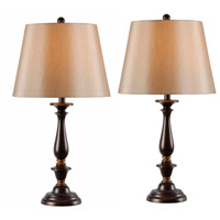Kenroy Lighting 32720GFBRG Gavin 29 inch 100 watt Golden Flecked Bronze/Gold Table Lamp Portable Light