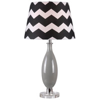 Kenroy Lighting Horizon 1 Light Table Lamp in Gray Glass Body/Acrylic Base 32724GRY
