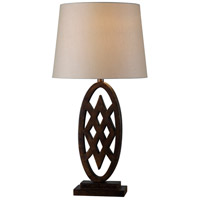 Signet 31 inch 150 watt Golden Flecked Bronze Table Lamp Portable Light