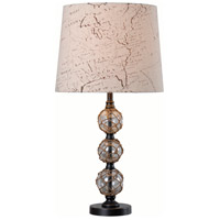 Mariner 27 inch 150 watt Clear Glass/Rope/Bronze Table Lamp Portable Light