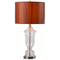 Bray 28 inch 150 watt Clear Glass Table Lamp Portable Light