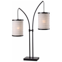 Lanterna 30 inch 60 watt Oil Rubbed Bronze/Gold Table Lamp Portable Light