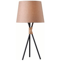Trio 29 inch 150 watt Bronze/Rope Table Lamp Portable Light