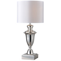 Kenroy Lighting McClelland 1 Light Table Lamp in Polished Nickel 32769PN