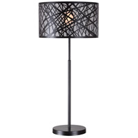Kenroy Lighting Bramble 1 Light Table Lamp in Black 32770BL