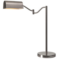 Wellesley 22 inch 100 watt Brushed Steel Desk Lamp Portable Light