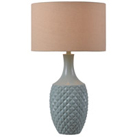 Kenroy Lighting Anaya 1 Light Table Lamp in Green Teal 32785GRN