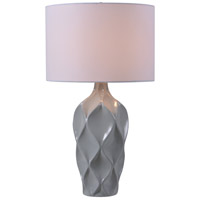Kenroy Lighting Newport 1 Light Table Lamp in Gray 32792GRY