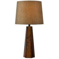 Kenroy Lighting Reflection 1 Light Table Lamp in Antique Copper Glass 32801ANCOP