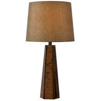 Kenroy Lighting 32801ANCOP Reflection 28 inch 150 watt Antique Copper Glass Table Lamp Portable Light
