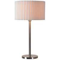 Kenroy Lighting Grace 1 Light Table Lamp in Brushed Steel 32807BS
