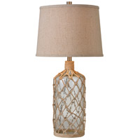 Kenroy Lighting Captain 1 Light Table Lamp in Glass/Rope 32816CLRR