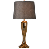 Kenroy Lighting Florian 1 Light Table Lamp in Gold 32818GLD