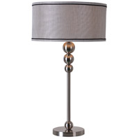 Margot 29 inch 150 watt Brushed Steel Table Lamp Portable Light