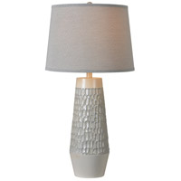Kenroy Lighting Vienna 1 Light Table Lamp in Silver White 32822SWH