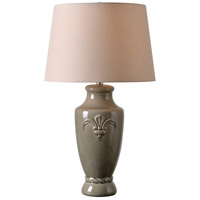 Crackle 30 inch 150 watt Taupe Crackle Ceramic Table Lamp Portable Light