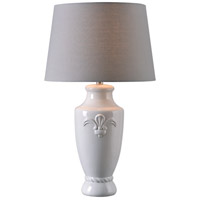 Crackle 30 inch 150 watt White Crackle Ceramic Table Lamp Portable Light