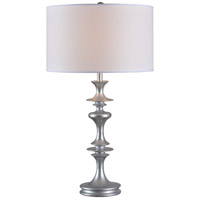 Colette 28 inch 150 watt Silver Gloss Table Lamp Portable Light