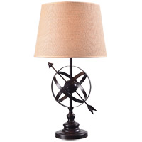 Kenroy Lighting 32944GFBR Armillary 17 inch Golden Flecked Bronze Table Lamp Portable Light