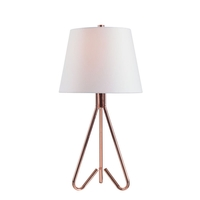 Kenroy Lighting 32989COP Clipper Copper Table Lamp Portable Light