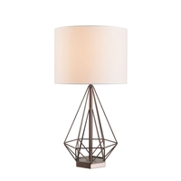 Kenroy Lighting 33058VC Pyramid 19 inch Vintage Copper Table Lamp Portable Light