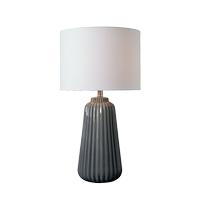 Kenroy Lighting 33158GRY Ziggy 27 inch Gray Table Lamp Portable Light