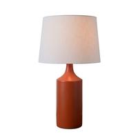 Kenroy Lighting 33159ORNG Crayon 20 inch Glossy Orange Table Lamp Portable Light