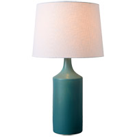 Kenroy Lighting 33159TEAL Crayon 20 inch Glossy Teal Table Lamp Portable Light
