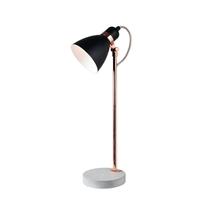 Kenroy Lighting 33169BLCOP Gabriel 24 inch Black and Copper Table Lamp Portable Light