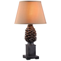 Kenroy Lighting 35245ABZ Spruce 19 inch Aged Bronze Table Lamp Portable Light