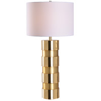 Kenroy Lighting 35247GLD Leland 20 inch Gold Table Lamp Portable Light